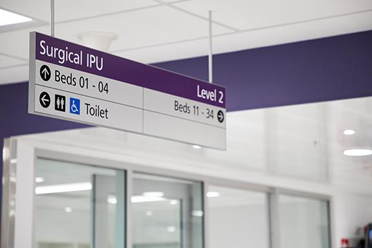 Sign of surgical inpatient unit